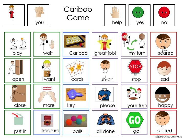 FREE Cariboo Communication Board Freebie. Communication board and visual directions for the BEST GAME EVER! From Speech Room News