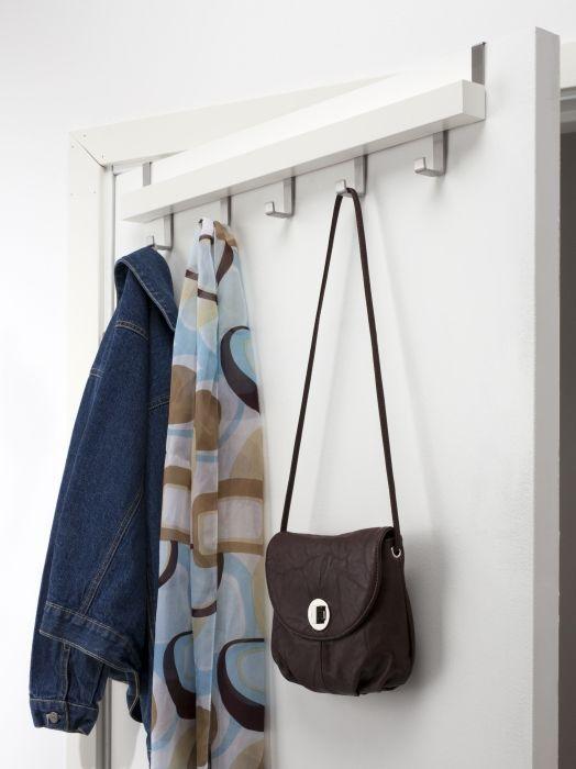 Tjusig Wall Door Rack With S White Hallway Organization Storage Pinterest Ikea And Doors