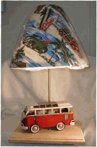 Red VW Van Lamp #kombilove