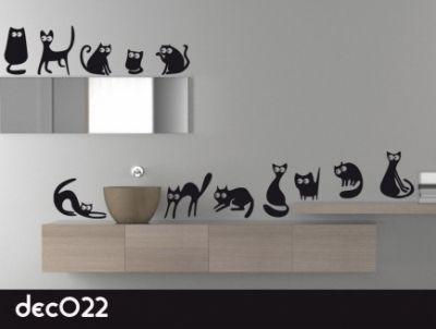 Los gatos son compañeros ideales, pero si no puedes tener uno de verdad, estos en vinilo pueden ser una opción para decorar. #vinilosdecorativos #vinilospared #pegatinas #decoracion #hogar #gatos #vinilosanimales