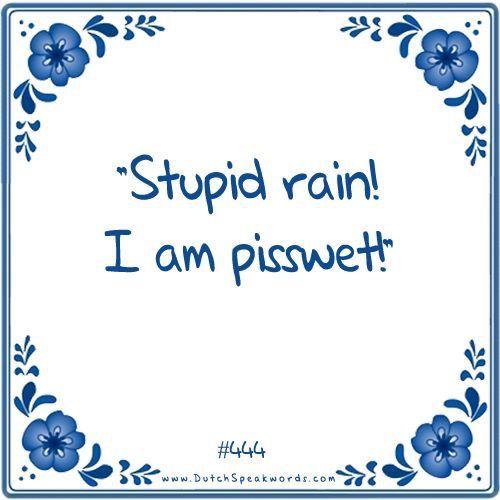 Stomme regen! Ik ben zeiknat!