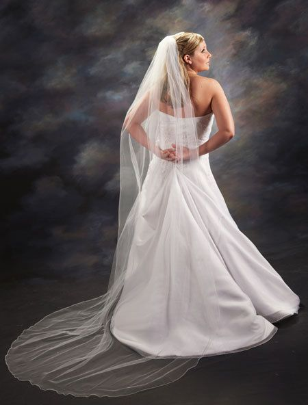 1 Layer Chapel Length Veil by Karissasveilboutique on Etsy, $38.00