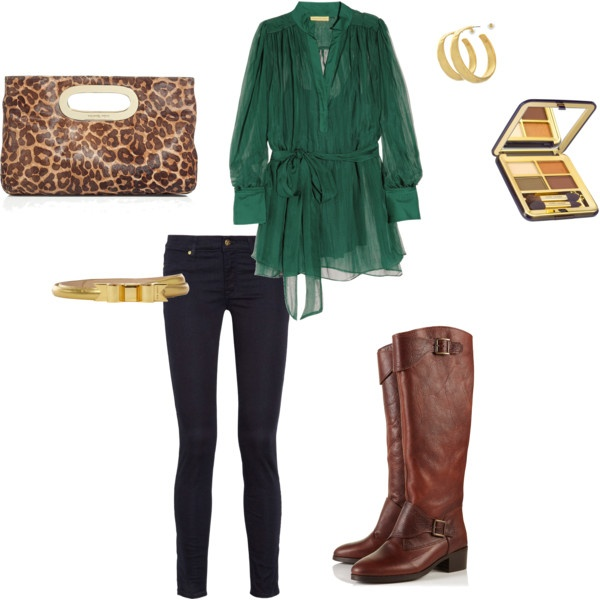 green and leopard