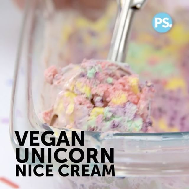 """Vegan unicorn ice cream made with simple, clean ingredients: strawberries, blueberries, mango, coconut cream and vanilla. Must try!  Vegan Fitness & Nutrition Ⓥ (@veganbodybuilding) on Instagram: """" Here's a delicious (healthy) snack to enjoy this summer! _ Vegan Unicorn 'Nice Cream' _ ProTip:…"""""""