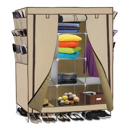 OxGord Portable Wardrobe Closet Organizer with Shoe Pockets - DailySale  $39 (Assembly?  Durability?_