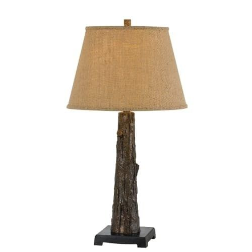 Cal Lighting BO-2730TB Tree Trunk Single Light 30 High Novelty Table Lamp (Resin)