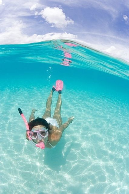 I dream of snorkeling, feel the water :*