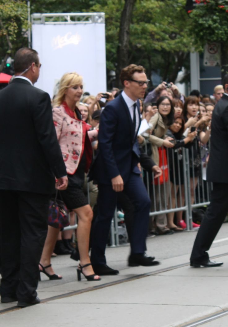 Benedict Cumberbatch goes above and beyond for the fans at The Imitation Game at TIFF 2014 in Toronto. // Pic by @JenCappelli
