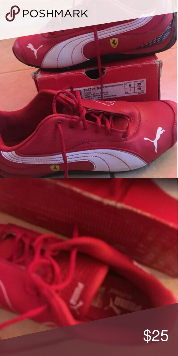 Puma Ferrari shoe Red n black puma Ferrari shoe great condition Puma Shoes Sneakers