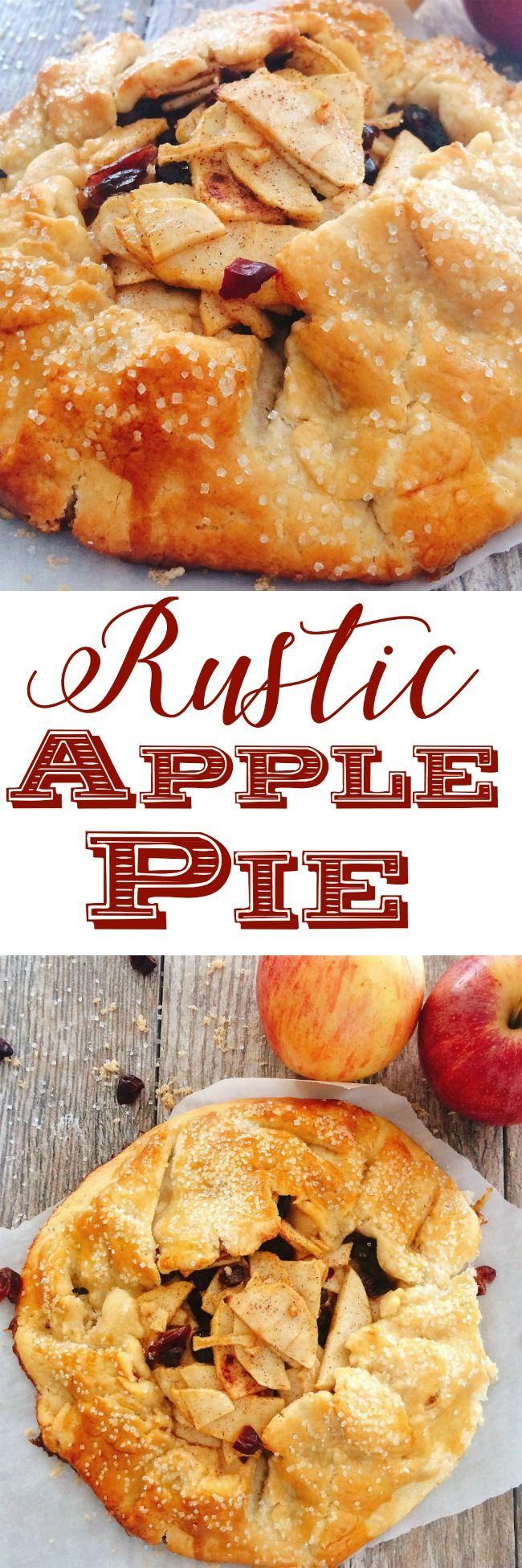 Easy Rustic Apple Pie