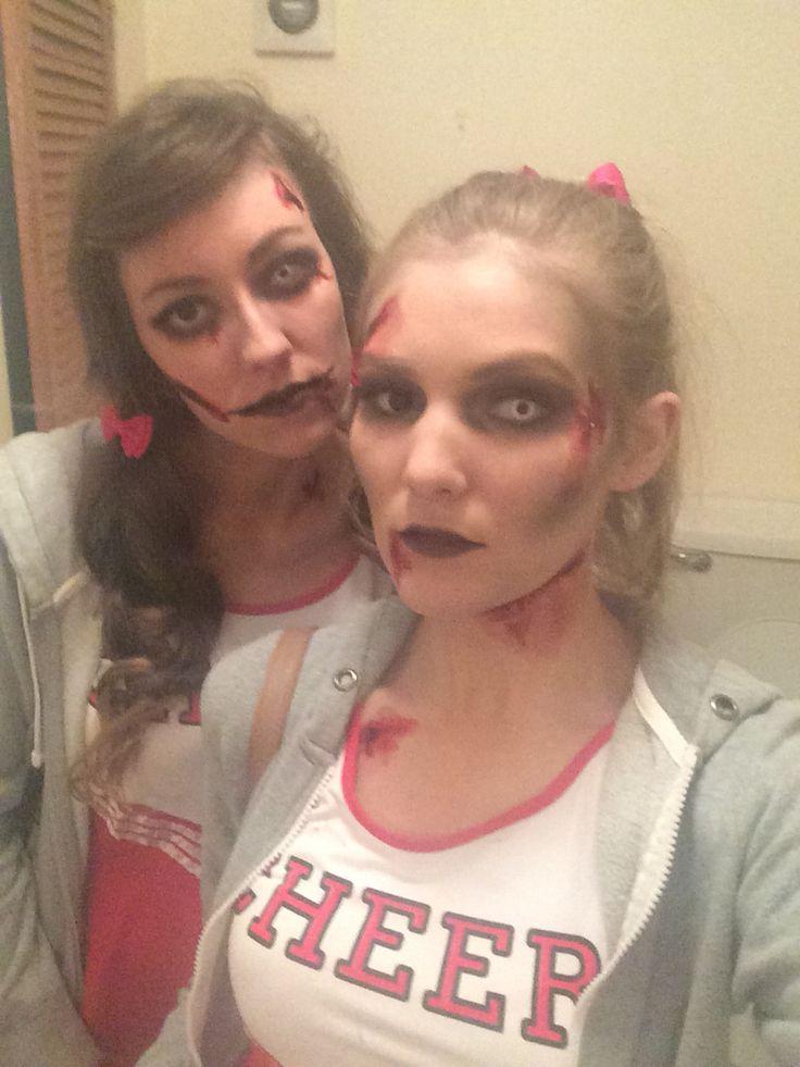 #haloween #costume #zombie #cheerleader #makeup #dead
