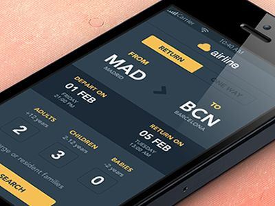 Airline app concept by witteia