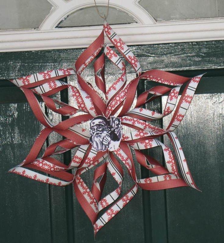 À partir de six morceaux de papier et grâce au découpage et pliage de papier facile, vous aurez, dans quelques minutes, une jolie décoration pour Noël!
