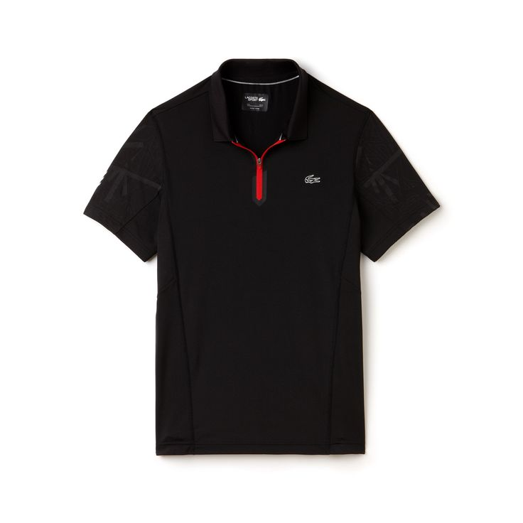 Men's Ultra Dry Zip Front Tennis Polo Shirt | LACOSTE