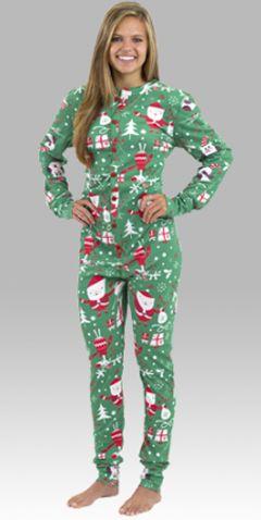 """Boxercraft Women's """"Santa"""" Union Suit"""