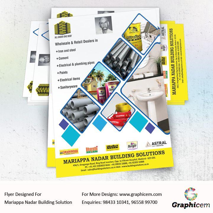 Flyer Designed For Mariappa Nadar Building Solution