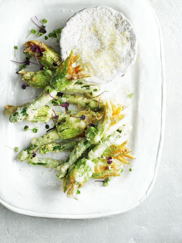 ricotta-stuffed zucchini flowers from donna hay