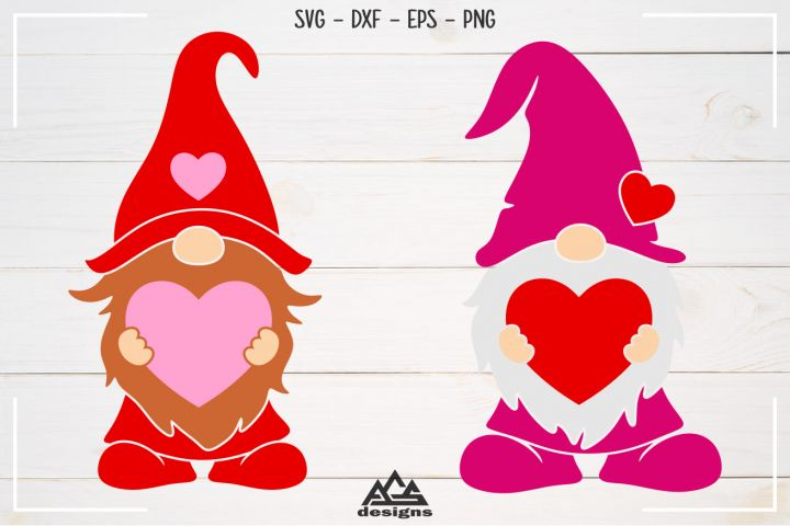 Download GNOME Valentine Love Heart Svg Design | Gnomes, Love heart