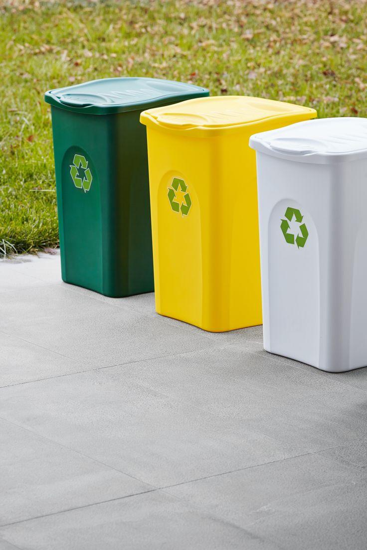 Pattumiera Begreen per la raccolta differenziata, capacità di 50 litri, disponibile in 3 colori
