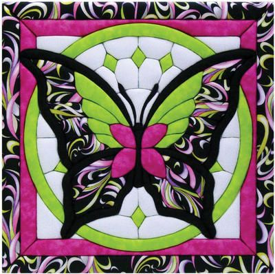 "Butterfly II Quilt Magic Kit-12""X12"""