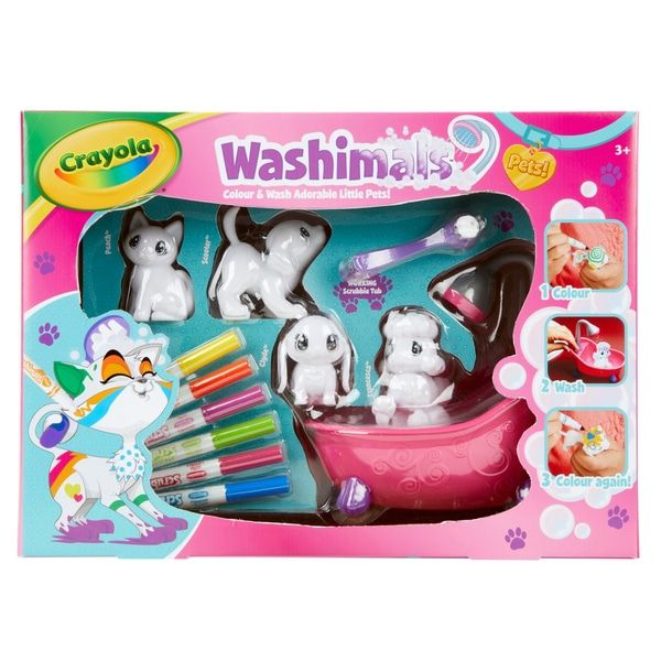 Crayola Washimals Colour And Wash Colouring Playset Smyths Toys Crayola Toys Crayola Indoor Activities For Kids