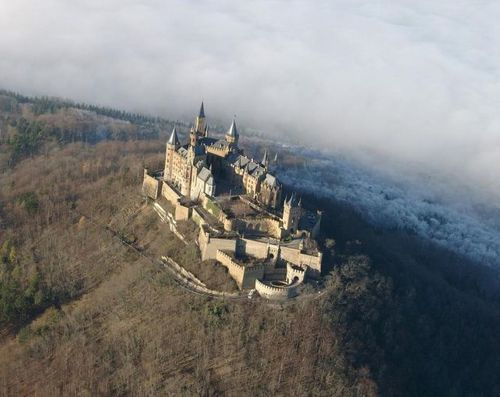 burg hohenzollern, from sky