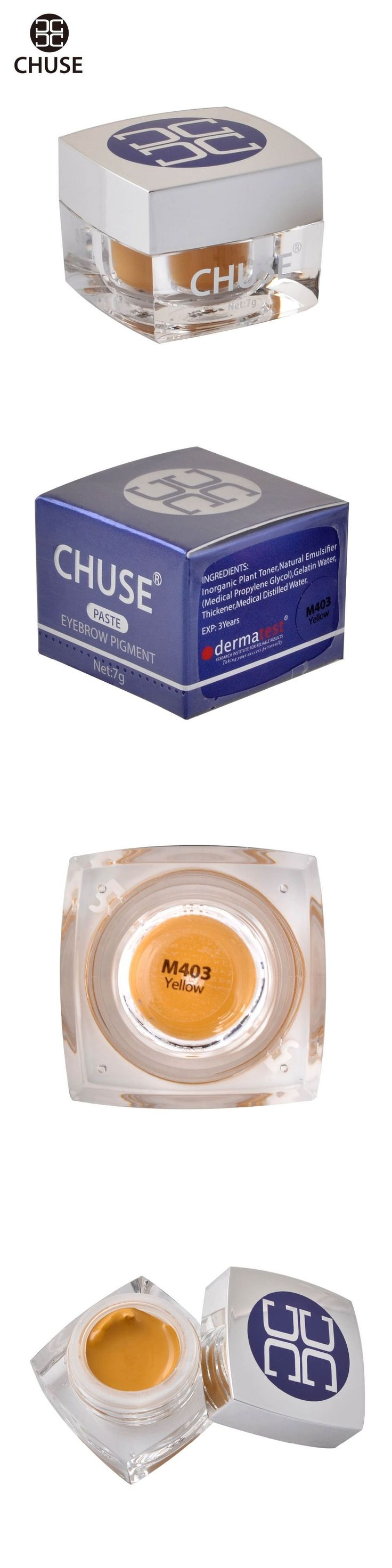 CHUSE Semi-Permanent Make-up Color Cream  Eyebrow Eyeliner Eye Shadow M403 Eyeliner Yellow