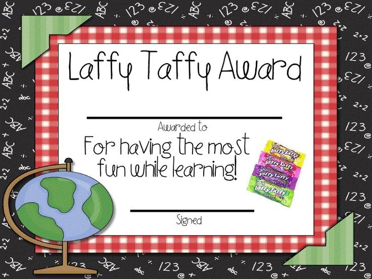 Candy Bar Awards-