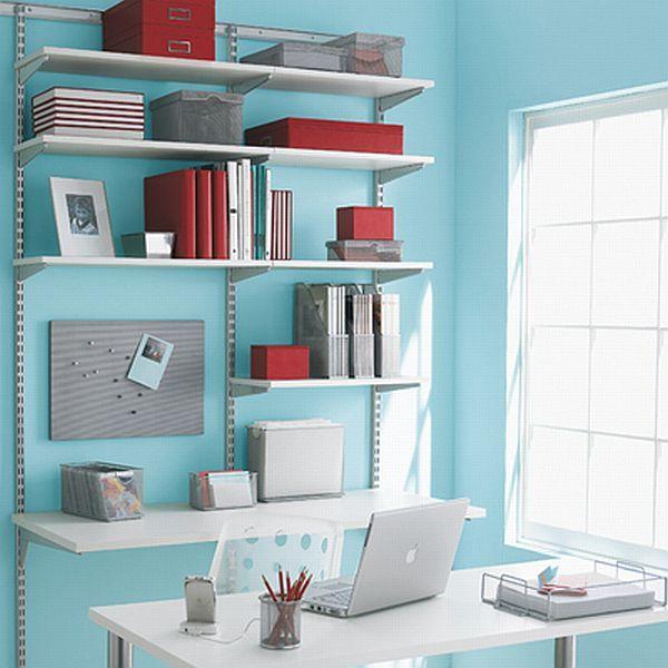home office shelves ideas. 5 wallmounted desks for small spaces office shelvingshelving ideaselfa home shelves ideas