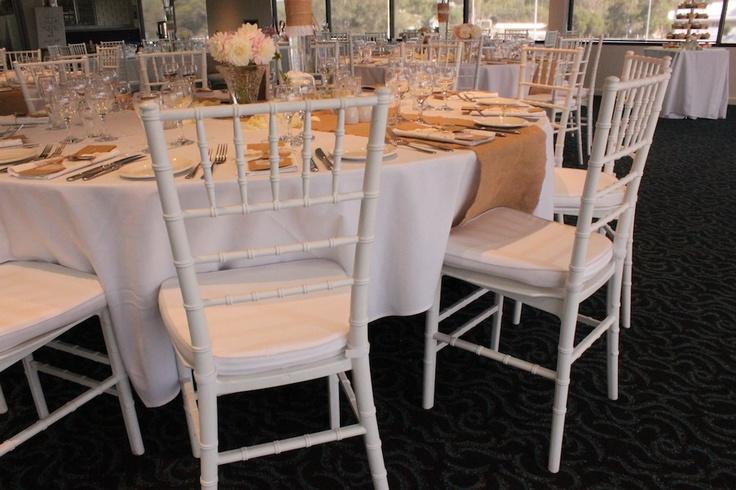 Jenna's gorgeous #wedding!  white #tiffany chairs (chiavari)