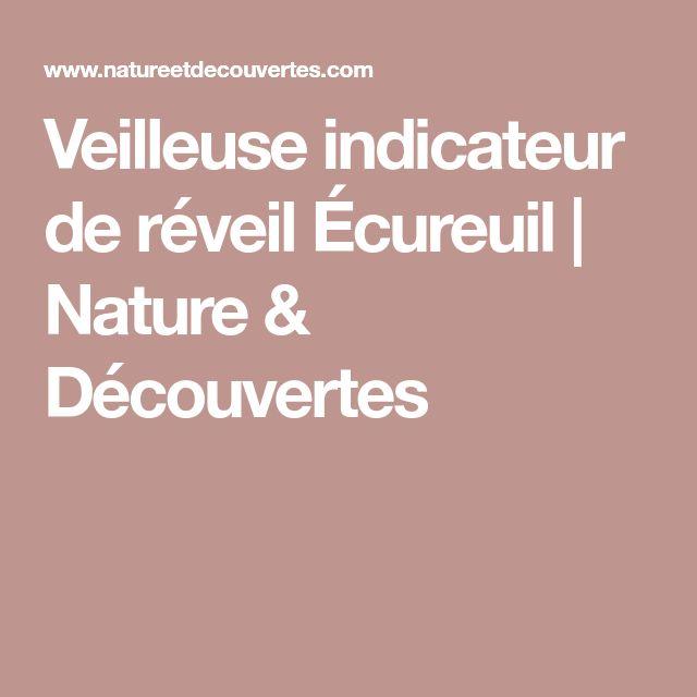Veilleuse indicateur de réveil Écureuil | Nature & Découvertes