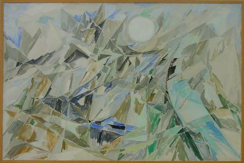 'Earth - the water and mountains.' Else Alfelt, 1910-1974