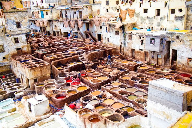 Красильня. Фес. Марокко