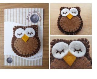 Cute Felt Owl Brooches