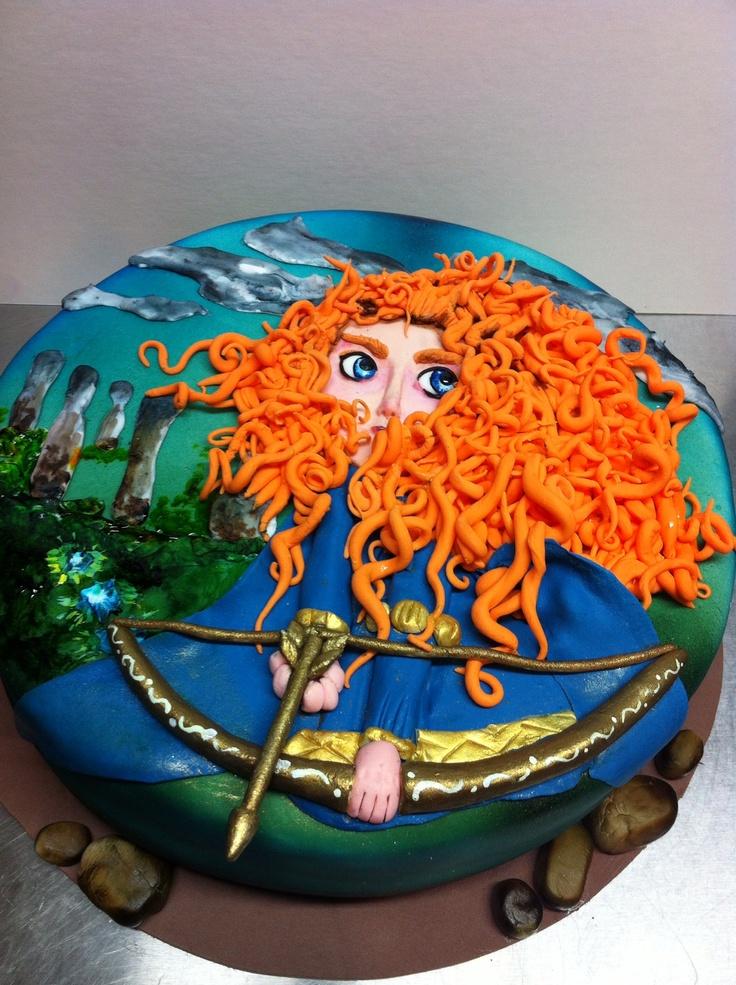 fondant brave cake