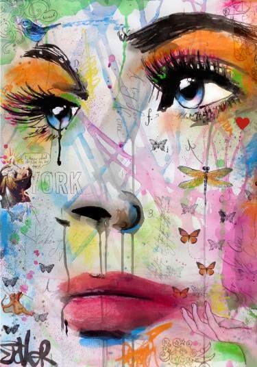 "Saatchi Art Artist Loui Jover; Drawing, ""taking flight"" #art"