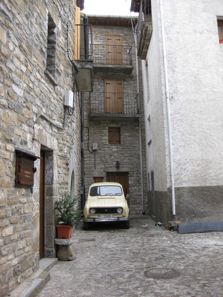 This little brave car fits so well in its beautiful scenery!  Spotted in Biescas, Spain. (2012)