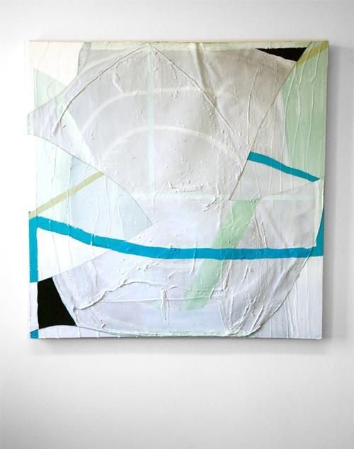 """""""LL,"""" Ian Swanson, 2011, acrylic, resin, caulk on canvas, 52 x 52""""."""