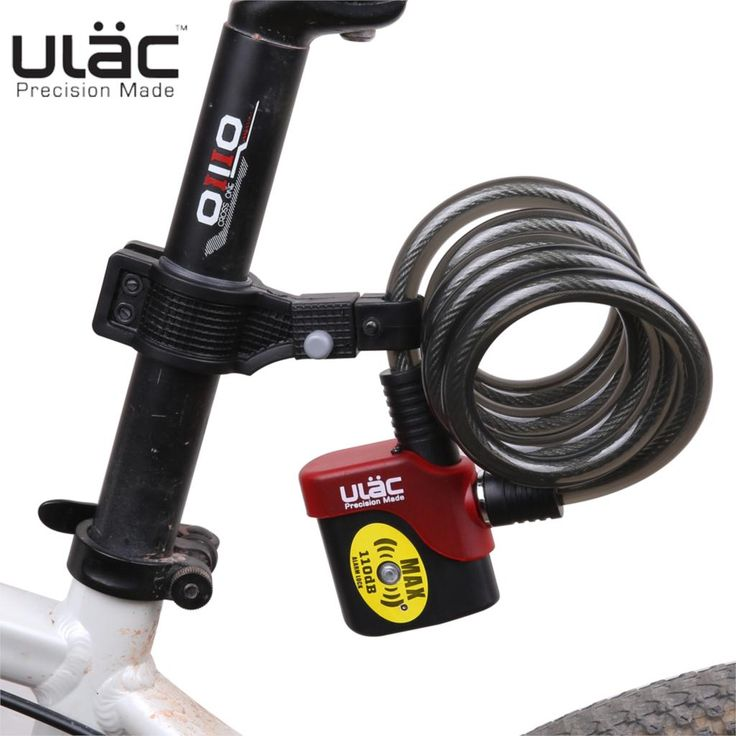 ==> [Free Shipping] Buy Best ulac bicycle lock bike alarm cable mountain bike lock wire AL3P 101200mm Bicycle Accessories bicicleta candado bicicleta Online with LOWEST Price | 32551889146