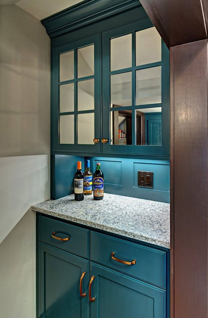 Kathryn Johnson Interiors   Love The Glass On The Top Cabinets. Teal Kitchen  ...