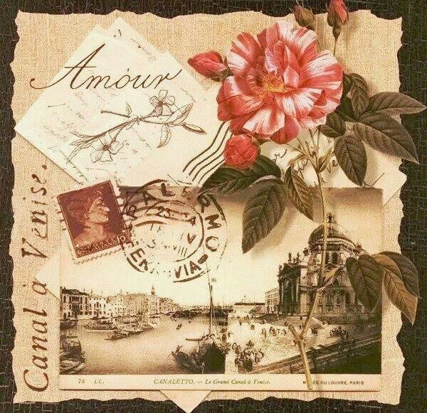 kaart met bloem
