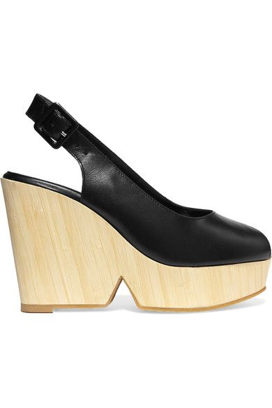 Robert Clergerie - Dywood Leather Wedge Sandals - Black - IT