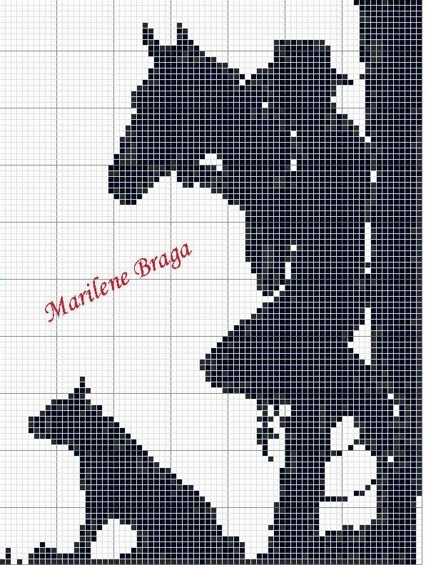 Motivos Country ~ Gráficos ponto cruz da drica
