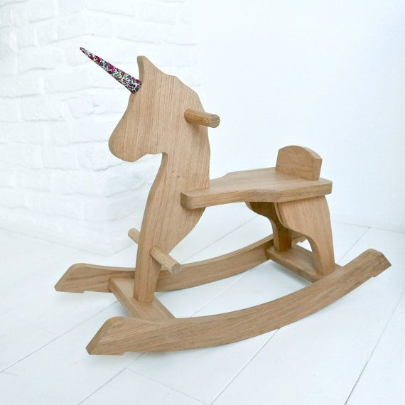 Cheval à bascule en bois  Licorne  jouet en bois  chêne par Bquatre