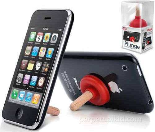 I-Plunge IPhone Stand -- haven't you been wanting one of these?  Great stocking stuffer!