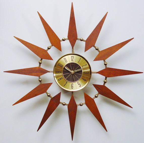 Starburst Clock by Welby Mid Century Modern Atomic by ClubModerne