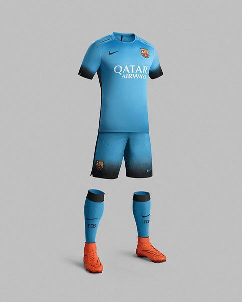 "Official: Colour of Barcelona's third kit this season is ""electric blue"""