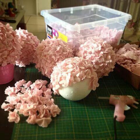 Topiaria rosas de feltro