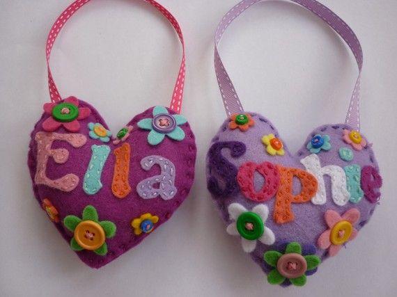 Personalised Door hanger for Boys and Girls by Feltsogoodgifts