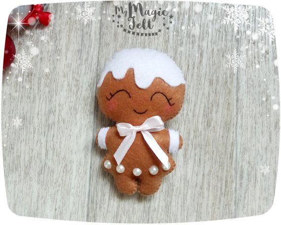 Christmas ornaments Felt gingerbread Christmas ornament Gingerbread decorations for Christmas gifts Advent calendar toys Christmas decor
